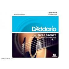 D'addario EJ11 žice za akustičnu gitaru