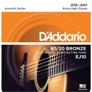 D'addario EJ10 žice za akustičnu gitaru