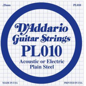 D'addario PL010 pojedinačna žica